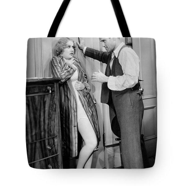 Damsel In Distress Tote Bag by Granger