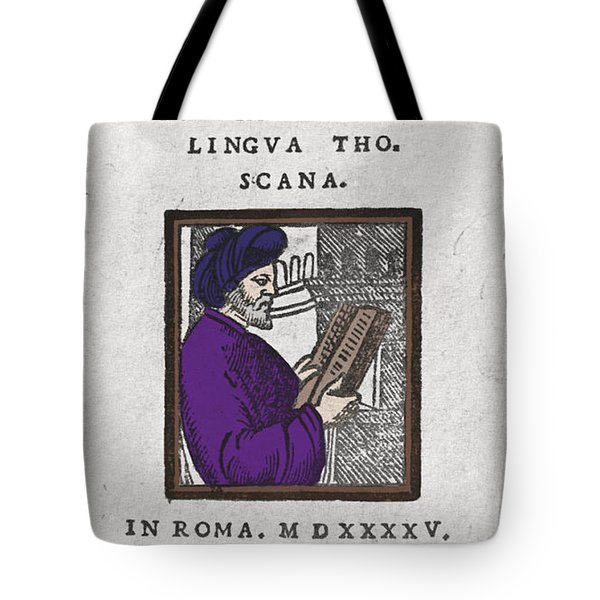 Euclid, Ancient Greek Mathematician Tote Bag by Science Source