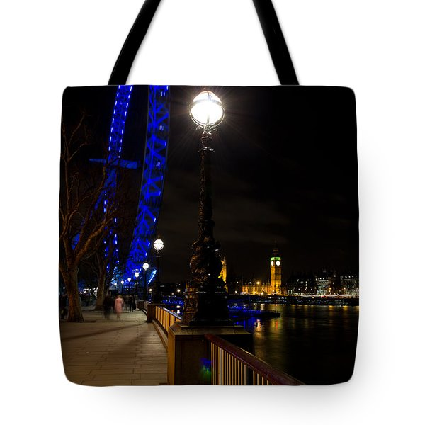 London Eye Night View Tote Bag by David Pyatt