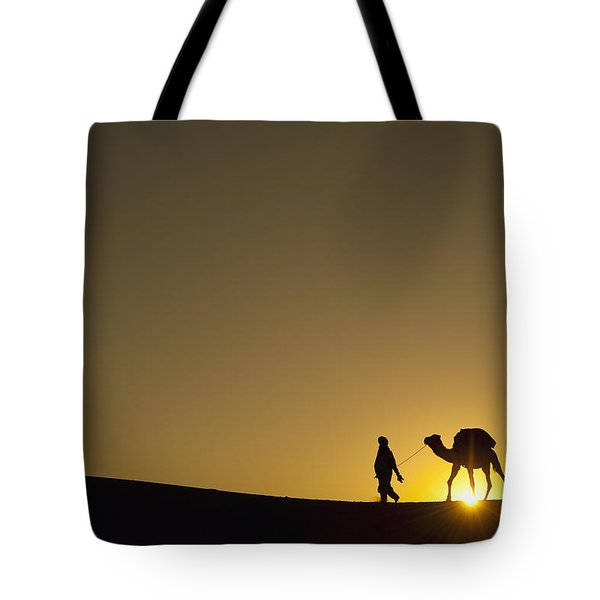 Merzouga, Morocco Tote Bag by Axiom Photographic