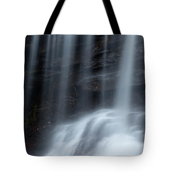 Misty Canyon Waterfall Tote Bag by John Stephens
