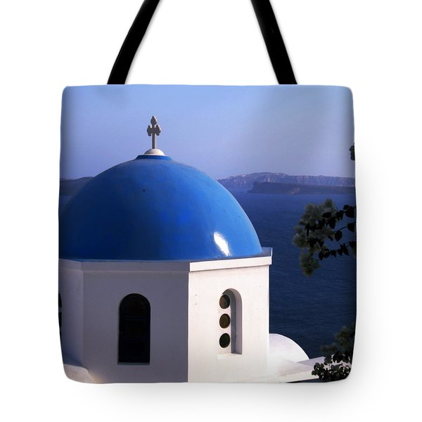 Tote Bag featuring the photograph Santorini Greece by Colette V Hera  Guggenheim