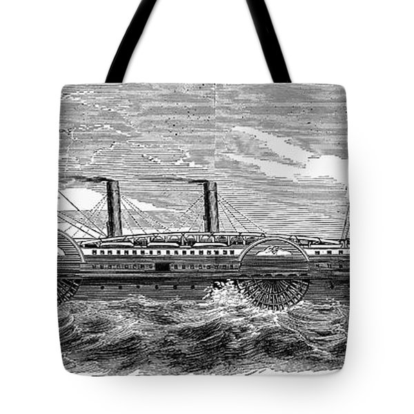 4 Wheel Steamship, 1867 Tote Bag by Granger