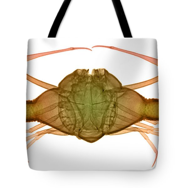 X-ray Of Deep Water Crab Tote Bag by Ted Kinsman