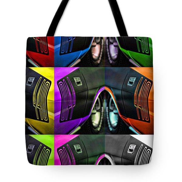 440 Cuda Billboard Pop Tote Bag by Gordon Dean II