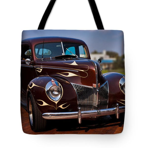 '49 Ford Two Door Sedan Tote Bag by Christopher Holmes