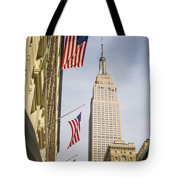 Tote Bag featuring the photograph Empire State Building by Theodore Jones
