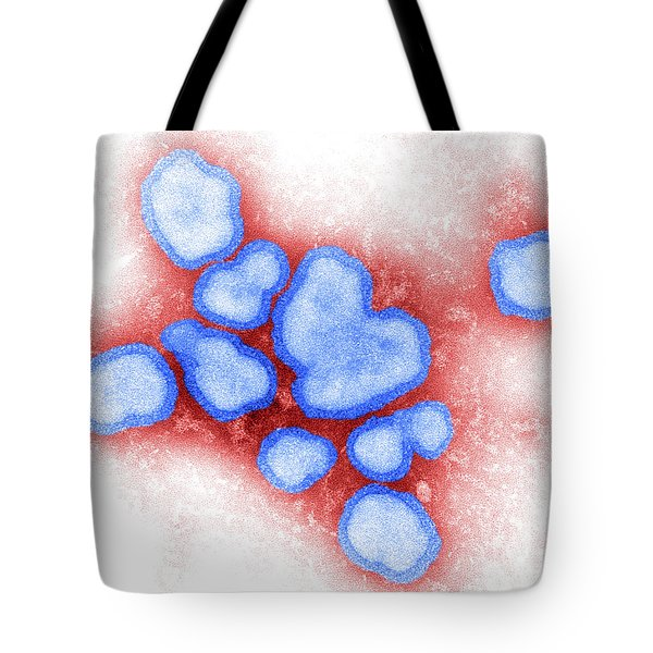 Influenza A Virus Tote Bag by Science Source