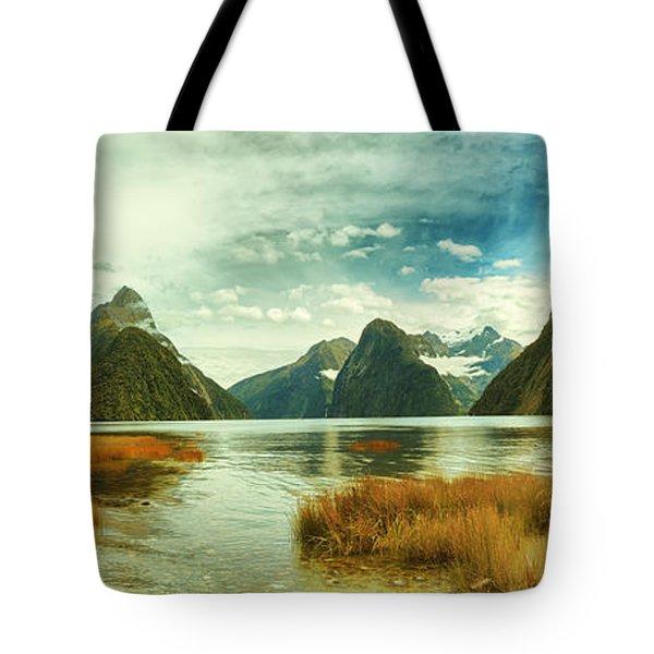 Milford Sound Tote Bag by MotHaiBaPhoto Prints