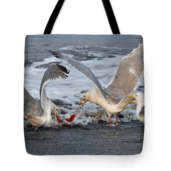 Seagulls Tote Bag by Debra  Miller