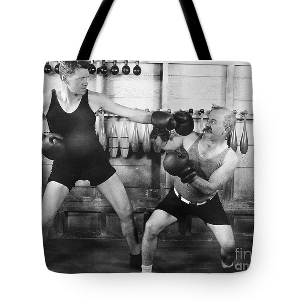 Silent Film Still: Boxing Tote Bag by Granger