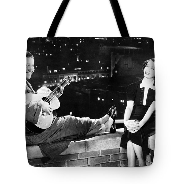 Silent Film Still: Music Tote Bag by Granger