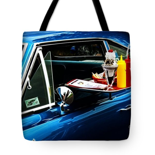 50's Take Out Tote Bag by Darleen Stry