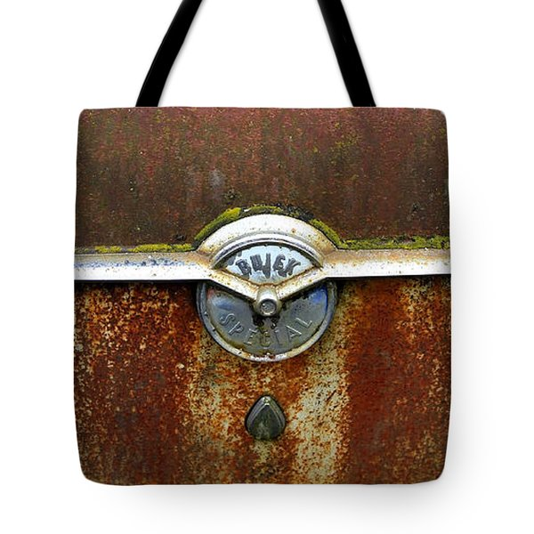 54 Buick Emblem Tote Bag by Steve McKinzie