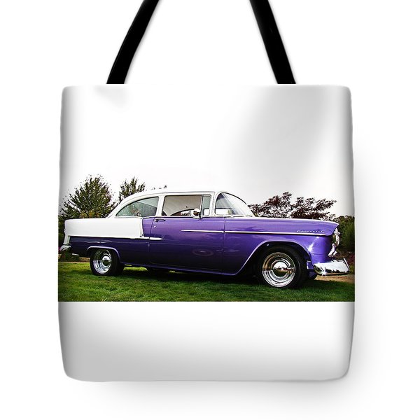 Tote Bag featuring the photograph 55 Chevy by Nick Kloepping