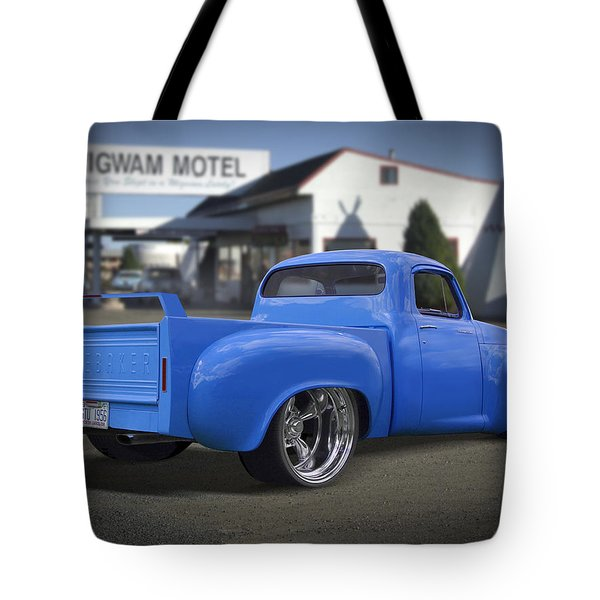 56 Studebaker At The Wigwam Motel Tote Bag by Mike McGlothlen