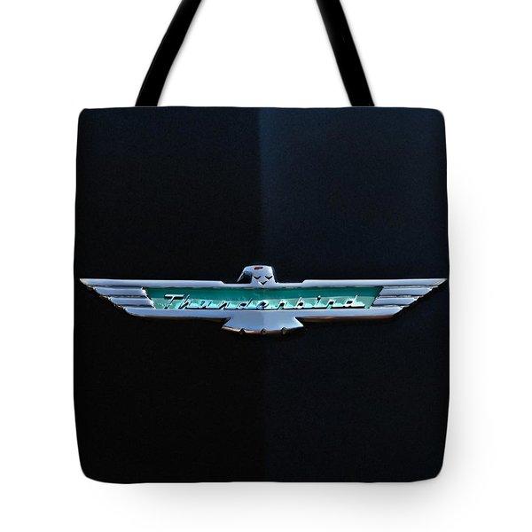 '56 T Bird Badge Tote Bag