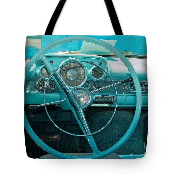 57 Chevy Bel Air Interior 2 Tote Bag