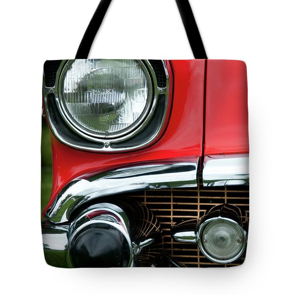 57 Chevy Right Front 8561 Tote Bag by Guy Whiteley