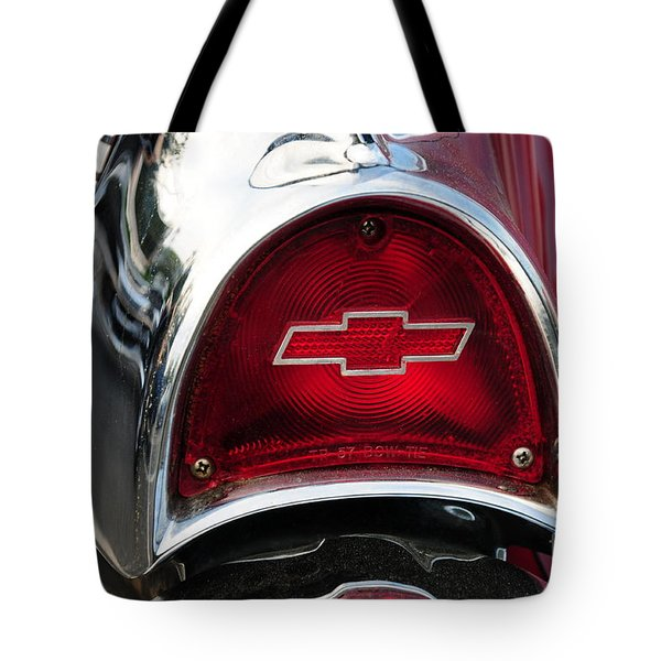 57 Chevy Tail Light Tote Bag by Paul Ward