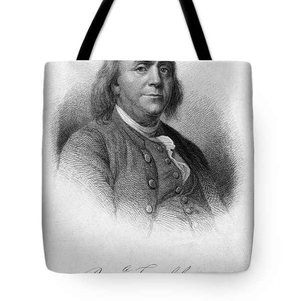 Benjamin Franklin, American Polymath Tote Bag by Photo Researchers