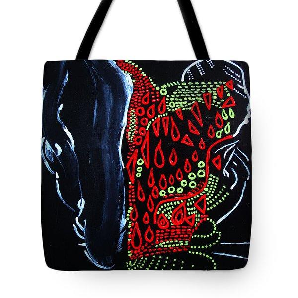 Dinka Groom - South Sudan Tote Bag by Gloria Ssali