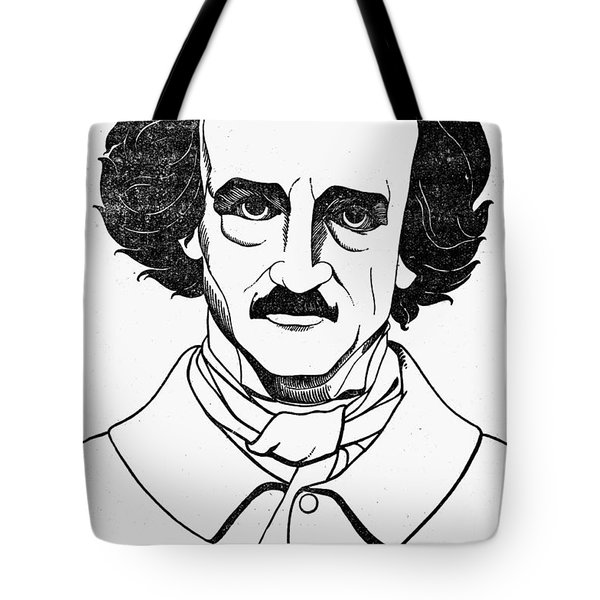 Edgar Allan Poe (1809-1849) Tote Bag by Granger