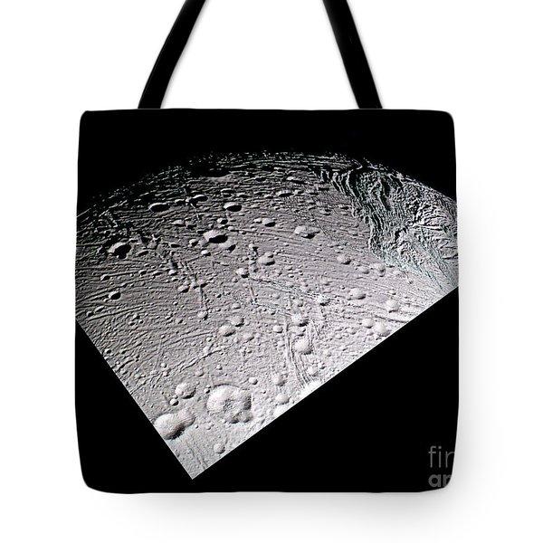 Enceladus Surface Tote Bag by NASA / Science Source
