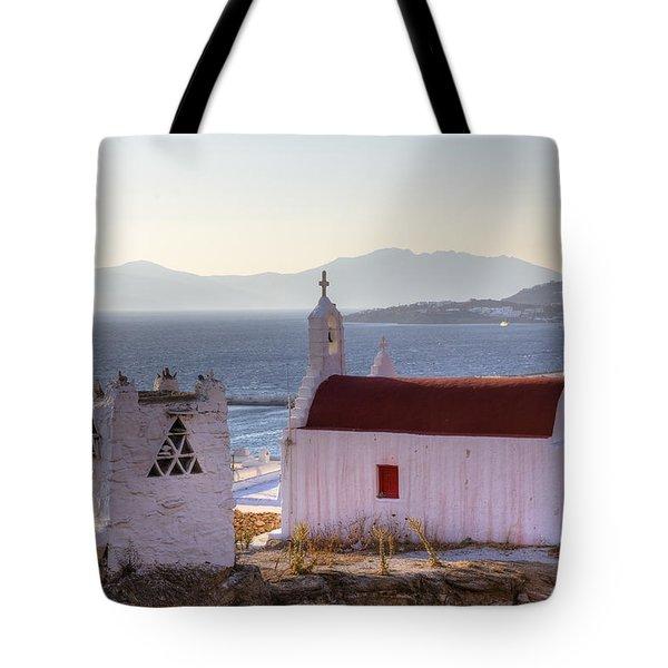 Mykonos Tote Bag by Joana Kruse