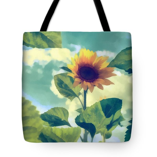 Tote Bag featuring the photograph Sunflower by Michael Goyberg