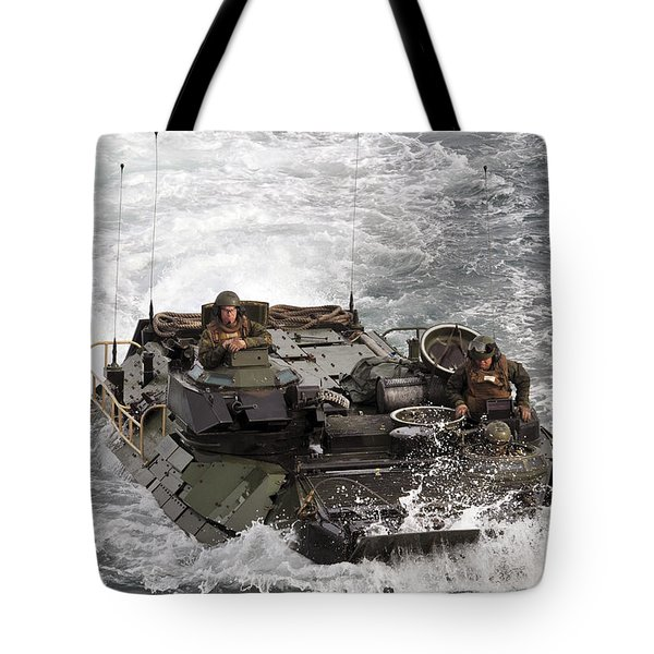 An Amphibious Assault Vehicle Tote Bag by Stocktrek Images
