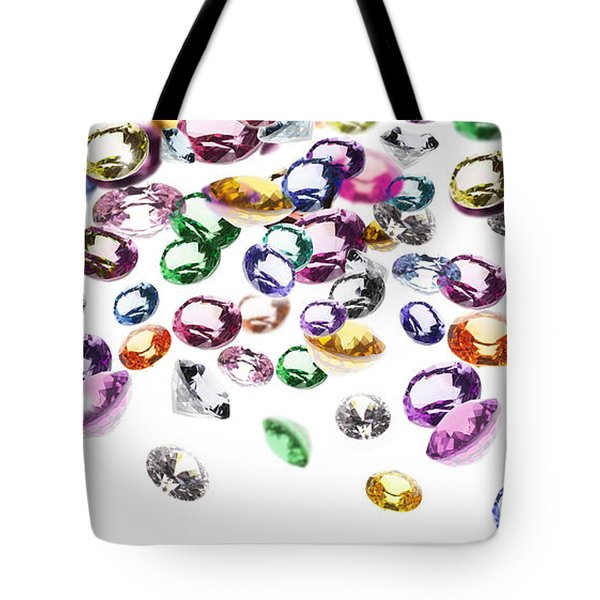 Colorful Gems Tote Bag by Setsiri Silapasuwanchai