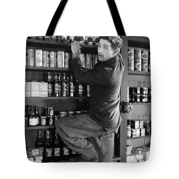 Silent Film Still: Stores Tote Bag by Granger