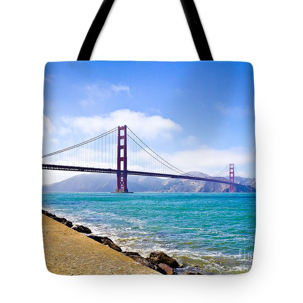 75 Years - Golden Gate - San Francisco Tote Bag
