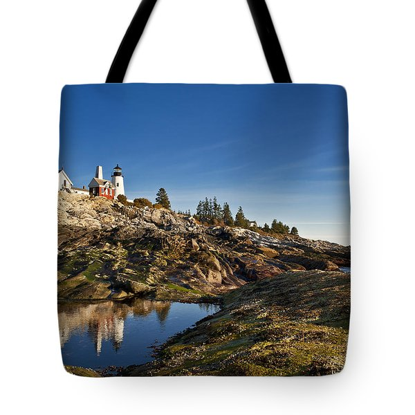 Pemaquid Point Lighthouse Tote Bag by John Greim