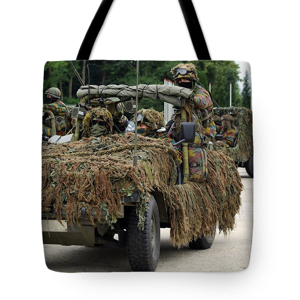 A Recce Or Scout Team Of The Belgian Tote Bag by Luc De Jaeger