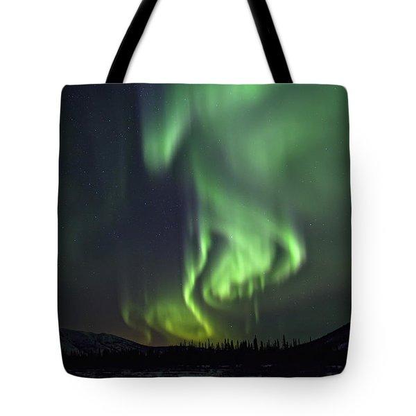 Aurora Borealis Or Northern Lights Tote Bag by Robert Postma