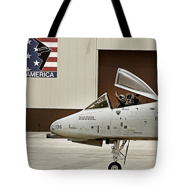A-10 Thunderbolt Tote Bag by Lamyl Hammoudi