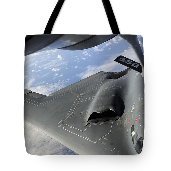 A B-2 Spirit Receives Fuel Tote Bag by Stocktrek Images