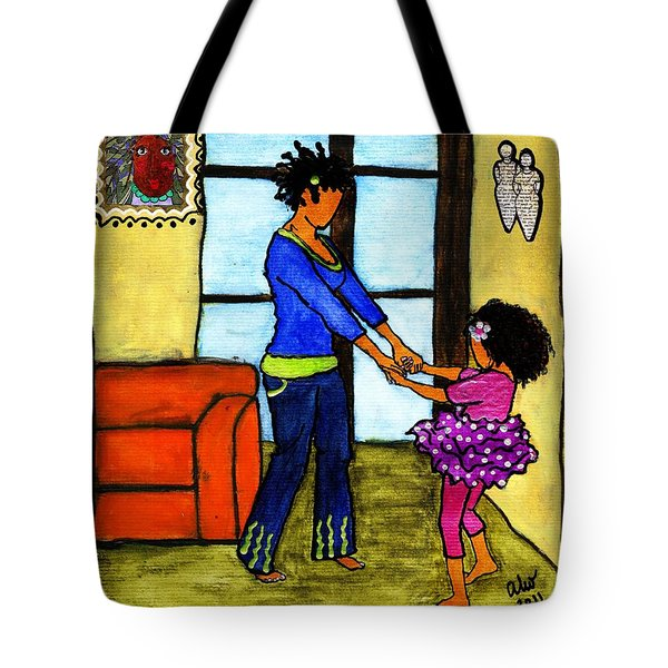 A Ballerina In The Making Tote Bag by Angela L Walker