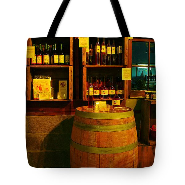 A Barrel And Wine Tote Bag by Jeff Swan