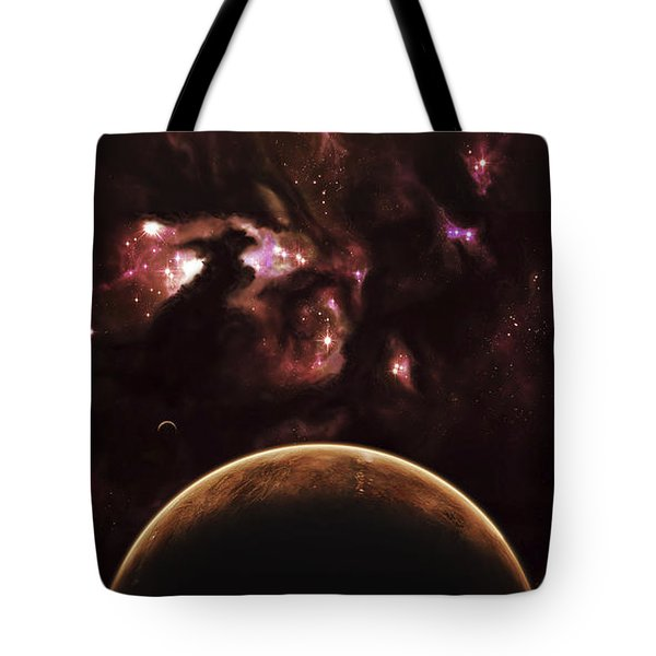 A Barren World Passes In Front Tote Bag by Kevin Lafin