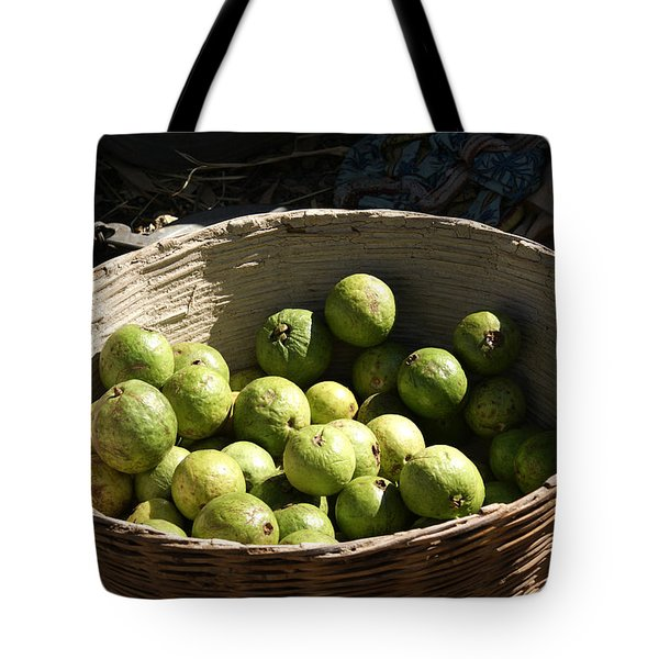 A Basket Full Of Guavas Just Outside Bhopal Tote Bag by Ashish Agarwal