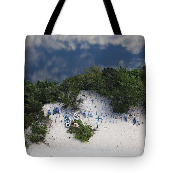 A Beach Cemetery Beside The Rio Negro Tote Bag by Bobby Haas