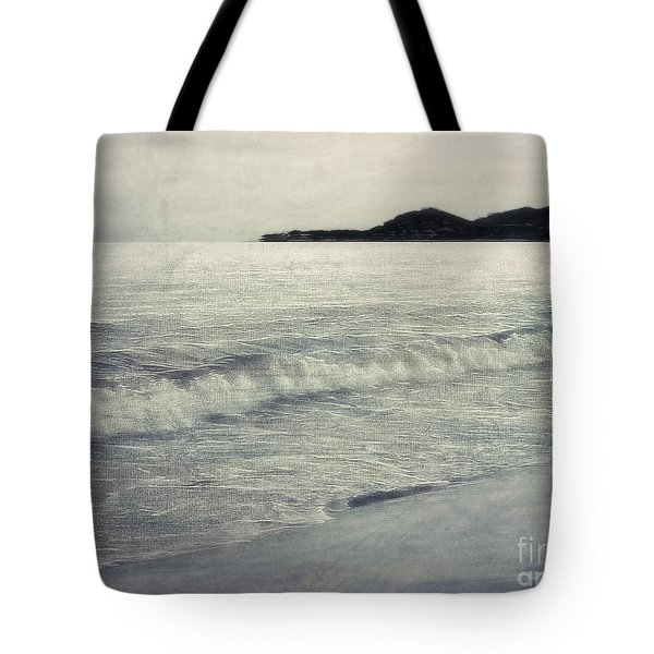 A Beach In Mexico In Black And White Tote Bag by Billie-Jo Miller