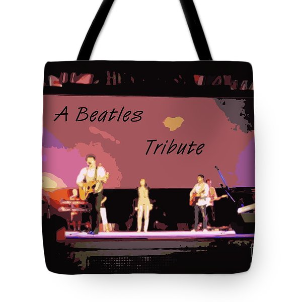 A Beatles Tribute Tote Bag by Renee Trenholm