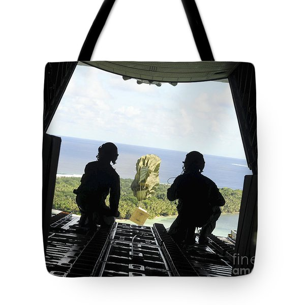 A Box Of Humanitarian Goods Travels Tote Bag by Stocktrek Images