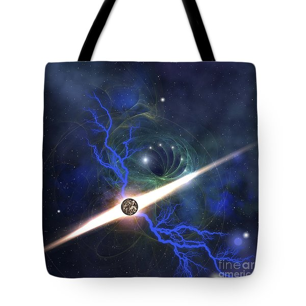 A Brilliant Star In The Universe Tote Bag