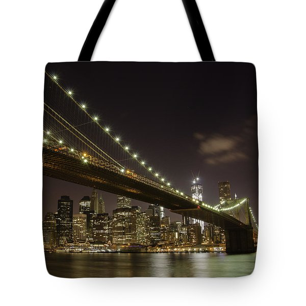 A Brooklyn View Tote Bag by Alex Ching