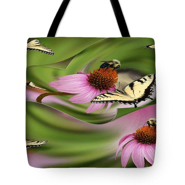 A Busy Garden Tote Bag